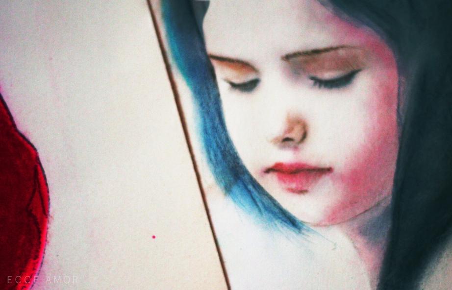 Pastel Petite fille Jaire - Ecce Amor